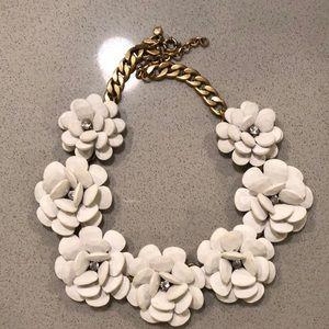 Jcrew oversized floral necklace